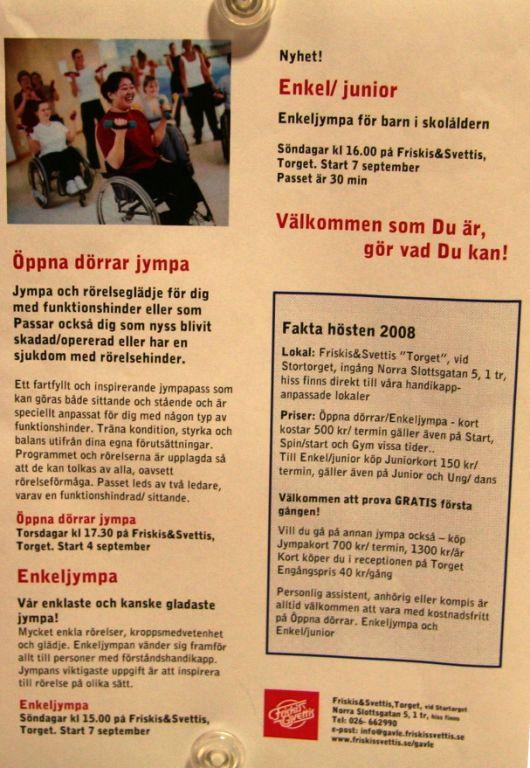 friskis och svettis prova på gratis stockholm