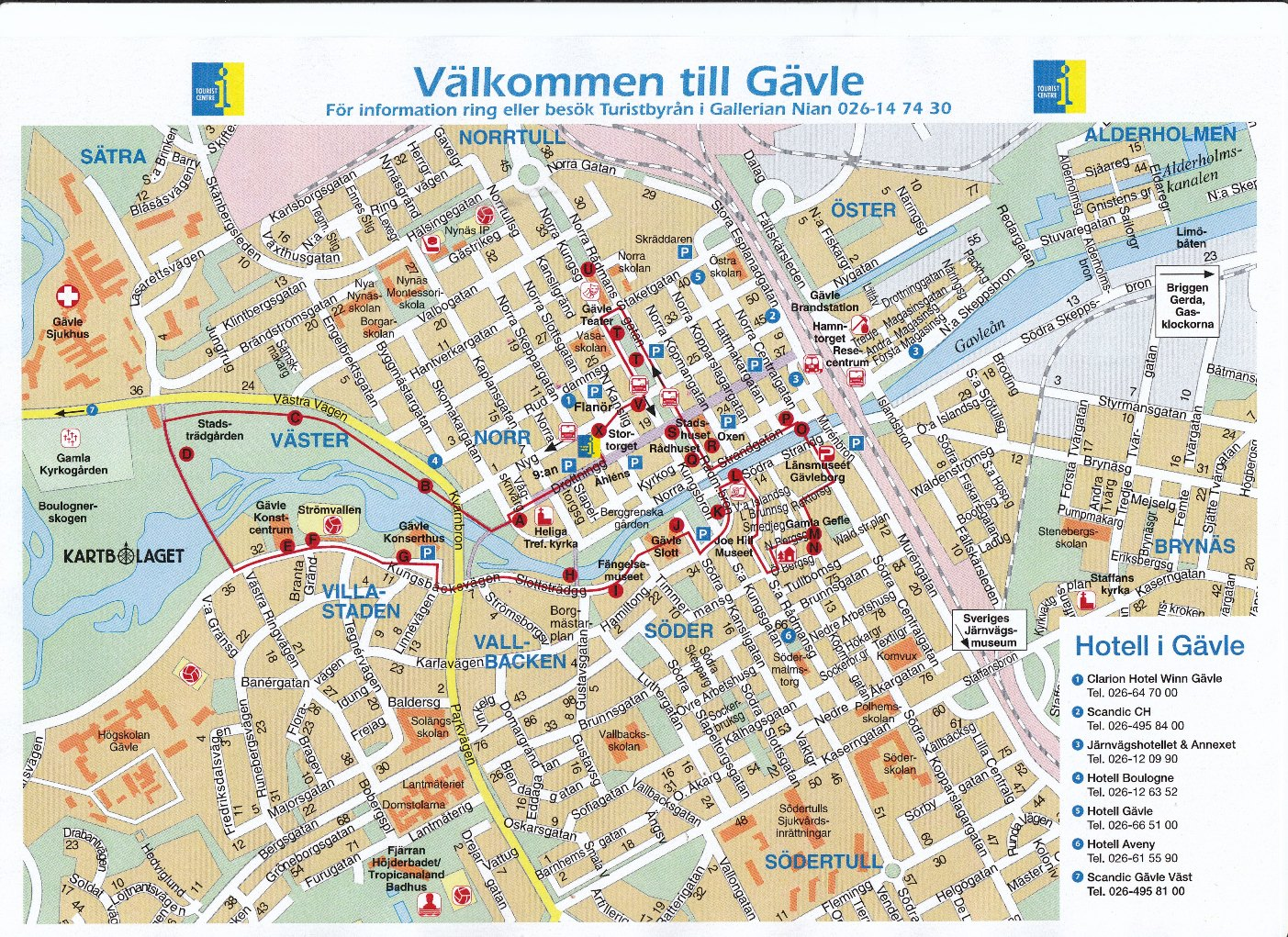 karta gävle A Walking Tour of Gävle   Gävledraget karta gävle